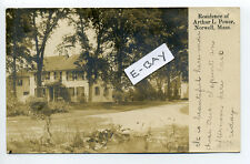 Norwell MA Mass 1908 Residence Arthur L. Power RPPC real photo, colonial home