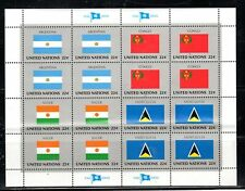 UNITED NATIONS  STAMPS SOUVENIR SHEET MINT NEVER HINGED LOT 4488