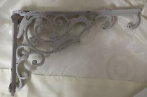 Shelf Support Light Hook Corner Wall Bracket Cream Grey 12 5/8x7 7/8in Shabby