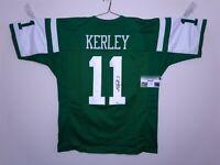 JEREMY KERLEY SIGNED AUTO NEW YORK JETS GREEN JERSEY GTSM AUTOGRAPHED