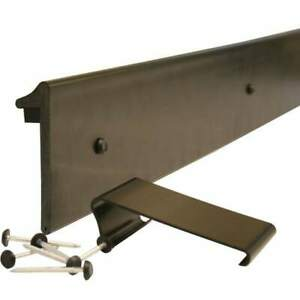RUBBER ROOFING EDGE TRIM 2.5m (with clips and fixings)