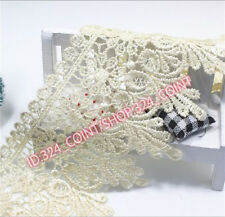 H54E 1 Yards Lace Trim Ribbon For Dress Skirt Veil Embroidered DIY Sewing Craft