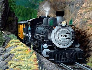 THE SILVERTON by Marc Desobeau - SunsOut 500 piece TRAIN RAILROAD puzzle - NEW