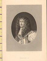 C1860 Vittoriano Stampa ~ Charles II