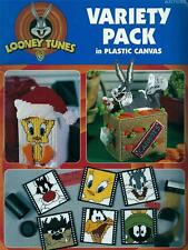 Looney Tunes Variety Pack Plastic Canvas Booklet Coasters,Tissue Box,Door Stop +