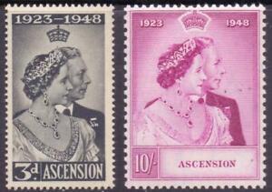 Ascension 1948 Royal Silver Wedding  SG 50-51 MNH cat. £51