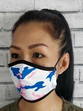Pink Camouflage face mask - Double layer with adjustable ear straps PACK OF 10