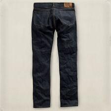 Double RL, RRL, slim fit jean, once washed, dark blue, selvedge denim, s. 32/32