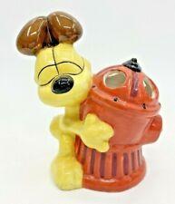 Odie Toothbrush Holder Ceramic Garfield Comics Fire Hydrant Jim Davis Bathroom