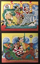 DOMINICA DISNEY CAROUSEL ANIMALS STAMP SS 1990 MNH CHRISTMAS SWAN CHARIOT MICKEY
