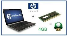 4GB (1x4GB) de memoria RAM upgrade HP Pavilion DV6-3122sa (XD540EA) Laptop/Netbook