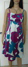 Coast strapless evening / cocktail dress Size 10 beautiful white/ green/ plum