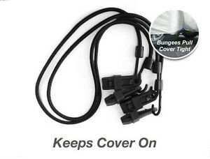 """Car Cover Security Bungee Gust Guard 2 Cords 36"""" and 4 Clips"""