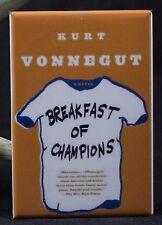 "Breakfast of Champions Book Cover 2"" X 3"" Fridge Magnet. Kurt Vonnegut"