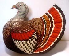 Large Stuffed Plush Turkey Bird Pillow Thanksgiving Centerpiece Hunting Decor