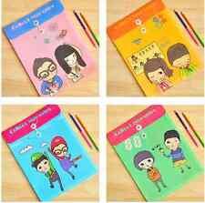 4pcs Korean Boy Girl Cartoon folder A4 File Document Bag Cute Kawaii Super Mario