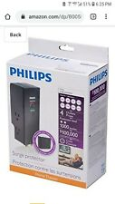 Philips SPP5044B/37 Home Electronics Surge Protector Black **BRAND NEW**