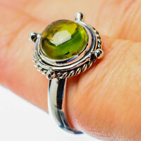 Peridot 925 Sterling Silver Ring Size 7.25 Ana Co Jewelry R25624F
