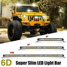 Ultra Slim 10 12 20 22 30 32 Single Row LED Work Light Bar For ATV UTV Offroad