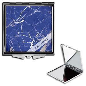 Personalised Name Initials Marble Handbag Travel Make Up Compact Mirror - 20