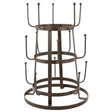 Brown Iron Mug Cup Kitchen Organizer Tree Drying Rack Stand Decor