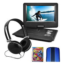 "Ematic Ematic 10"" Portable Swivel Screen DVD Player Black w/Headphones Essential"