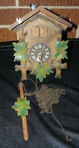 Vintage West Germany German Black Forest Cuckoo Clock For Parts