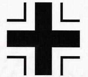 Small Luftwaffe Iron Cross sticker VW Bug Camper Van Beetle Bongo Bus 75mm wide