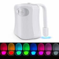 Body Sensing Automatic LED Motion Sensor Night Lamp Toilet Bowl Bathroom Light