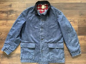 Vintage '50s Sears Hercules Denim Chore Barn Jacket Flannel Collectible USA Made