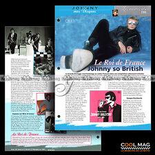 #jh075.08 ★ 2010 COMPILATION LE ROI DE FRANCE 1966-1969 ★ Fiche JOHNNY HALLYDAY