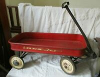 Vintage Mid Century 1950s/60s Red Rex Jet Full Size Child's Wagon restore