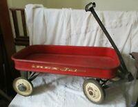 Vintage Mid Century 1950s/60s Red Rex Jet Full Size Child's Wagon restore