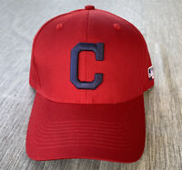 Cleveland Indians Hat Cap Block Logo OC Sports Adjustable Team MLB Baseball Mens