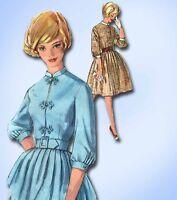 1960s Vintage Simplicity Sewing Pattern 4010 Misses Shirtwaist Dress Size 12 32B