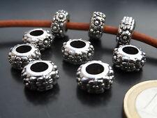 ¡¡¡OFERTA 2x1!!! 12 Bolas Zamak (A.4,5mm) cuentas abalorios (B5-13) pulseras