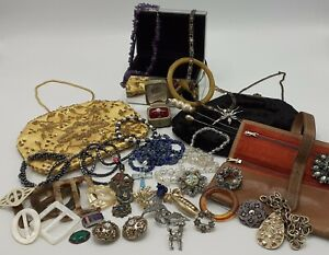 Mixed Lot of Vintage & Retro Jewellery, Evening Bags and Accessories