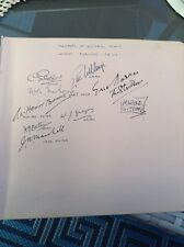 London Evening News 1940's Editorial Staff Autographs