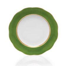 "Herend Silk Ribbon Fern 8"" Dessert Plate Porcelain Hand Painted Gold Band New"