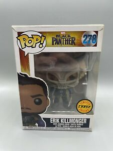 Funko Pop Erik Killmonger Masked CHASE Vaulted - Marvel Black Panther #278