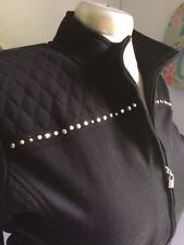 Alfred Donner Women Ladies Black Gem  Coat Jacket Office Work Casual 14 Zip