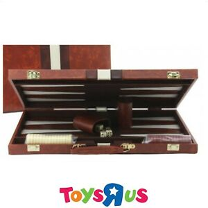 Backgammon Set with Deluxe Tan Case - 15""