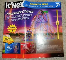 K'Nex Corkscrew Coaster Nearly Complete Set Motor Tested Instructions Included