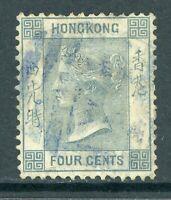 China 1863 Hong Kong 4¢ Slate QV Wmk CCC Sc #10 Yokohoma CDS W933 ⭐⭐⭐⭐⭐⭐