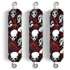 Red Skull & Wild Roses Shock Absorber Covers for Yamaha Raptor YFM 700 R
