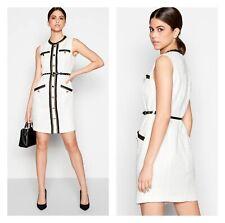 Smart Ivory Star By Julien Macdonald At Debenhams Tweed Dress - Size 16 RRP £69
