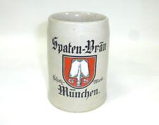 Chope à bière Krug spaten-bräu Munich Schutzmarke um 1900