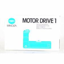 Minolta Motor Drive 1 Bedienungsanleitung / Gebrauchsanweisung - DE / EN / FR