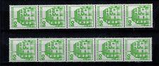 Bundesrepublik Deutschland  1038 AI+II uR 5er Streifen postfrisch mit Zählnummer
