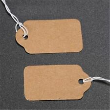 100pcsbag Blank Strings Price Tags Kraft Paper Prices Labels Jewelry Making Fin
